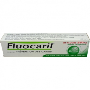 Fluocaril dentifrice menthe bi-fluore 250 mg 125 ml