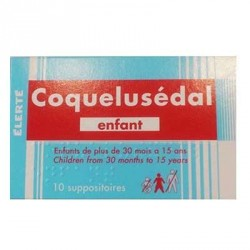 Coquelusedal 10 suppositoires enfant