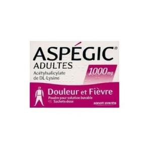 Aspegic adultes 1000 mg 15 sachets