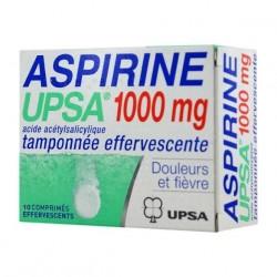 Aspirine UPSA 1000mg tamponnée effervescente 10 comprimés
