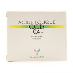 Acide folique CCD 0,4 mg 30 comprimés