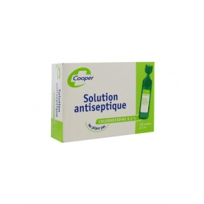 Cooper Solution Antiseptique Chlorhexidine 0.5% 12 x 5 ml
