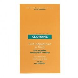 Klorane 6 Doubles Bandes de Cire Froide à l'Amande Douce